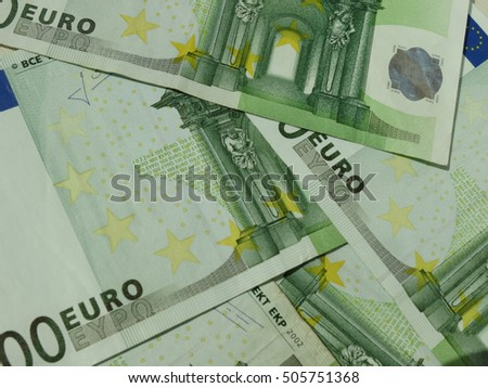 100 Euro (EUR) banknotes - legal tender of the European Union