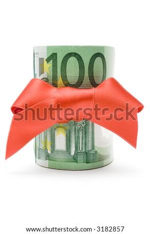 100 Euro Gift - stock photo