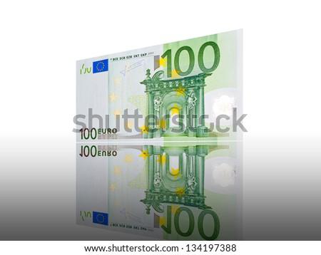 100 Euro note - stock photo