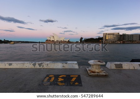 Evening, the city of Sydney, Australia