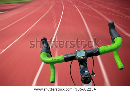 exercise bike paths on track.
