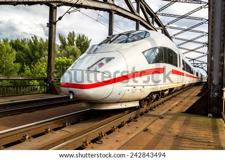 Express in Frankfurt, Germany in a summer day - stock photo