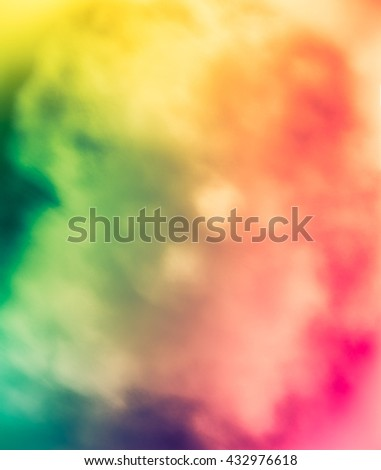 Expressive abstract background. Bright colors. Completed in  floral summer joyful palette. Very blurry textures. - stock photo