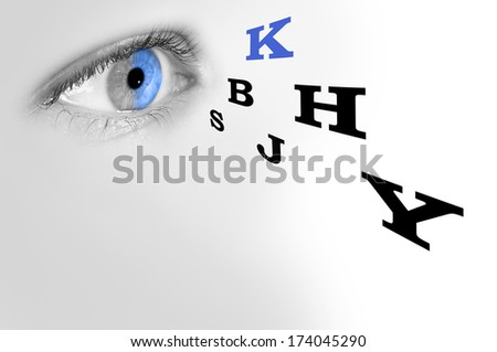 eye test                           - stock photo