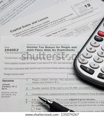 Ez tax forms stock photos royalty free images vectors for 1040ez tax table 2012