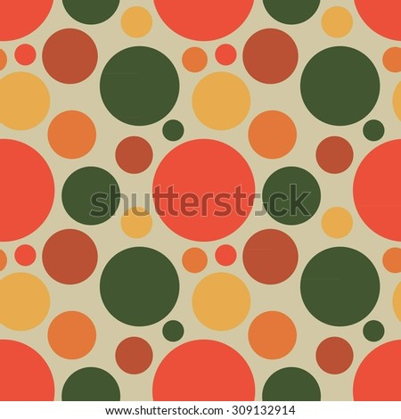 fabric circles abstract seamless pattern background  color elements. Raster version - stock photo
