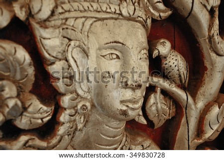 face Ancient Buddha of Lanna