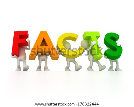 Facts about - stock photo