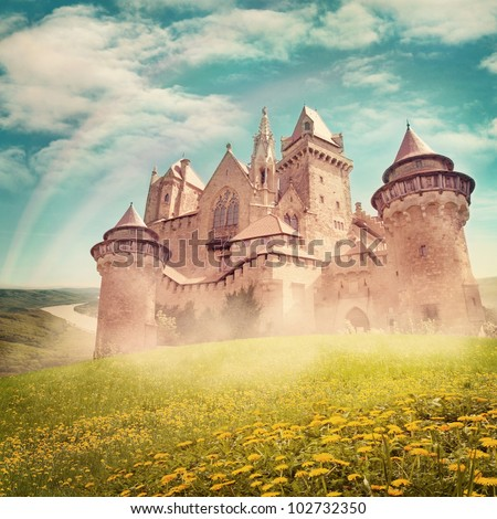 Fairy tale princess castle  from dreams - stock photo