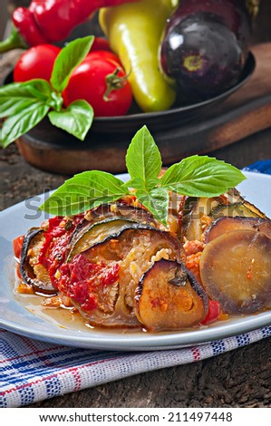 Famous French dish from Provence - Vegetable  Ratatouille.