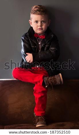 fashion boy - stock photo