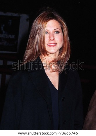 "05FEB97: Actress JENNIFER ANNISTON (""Friends"") at premiere of ""Dante's Peak."" Pix: PAUL SMITH - stock photo"