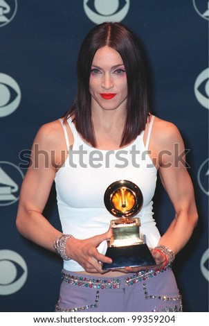 24FEB99: Pop superstar MADONNA at the 41st Annual Grammy Awards in Los Angeles.  Paul Smith / Featureflash - stock photo