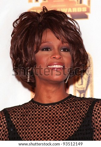 27FEB98:  Singer WHITNEY HOUSTON at the Soul Train Awards where she was presented with the 1998 Quincy Jones Award for Career Achievement.