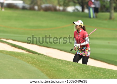22-25 FEBRUARY 2018, Siam Country Club, Pattaya, Old Course, Thailand:Pornanong PHATLUM of thailand in action during Honda LPGA