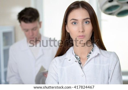 Female doctor at clinic