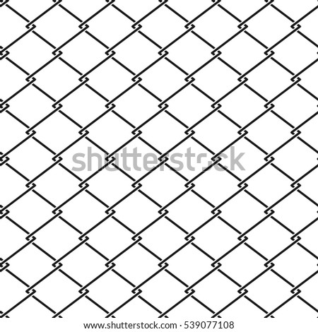 fence steel netting seamless pattern. Metal cage background illustration