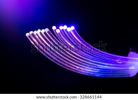 fiber optics - stock photo