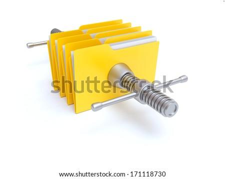 Files Compression - stock photo