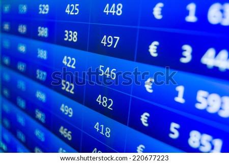 Financial Data On Monitor Computer Screen Stock Photo Royalty Free