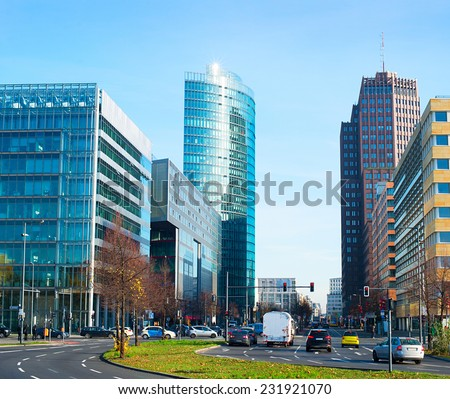 financial district of Berlin, Germany - stock photo