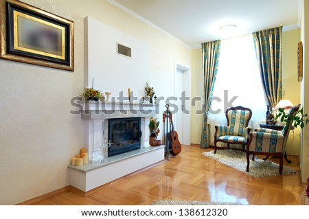 fireplace interior