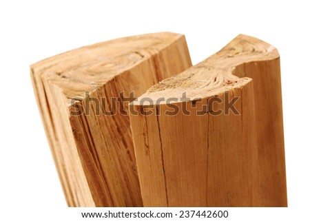 firewood isolated - stock photo