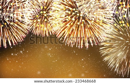 fireworks background - stock photo