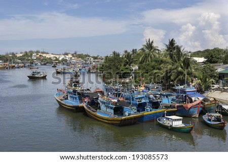 Fishing Village In Viet Nam, Southeast Asia