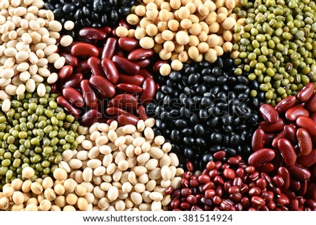 Five color lentile for background - stock photo