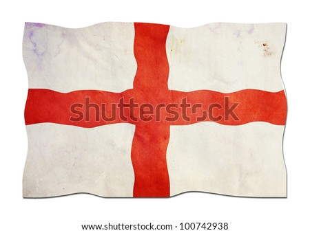 Flag of England made of  Paper - stock photo