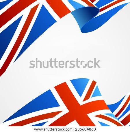 Flag of UK isolated on white - stock photo