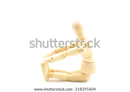 Flexible wooden doll  - stock photo