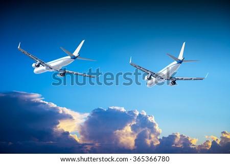 Flight training aircraft. - stock photo