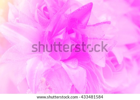 Floral background. Lot of artificial flowers in colorful composition,closeup flowers background