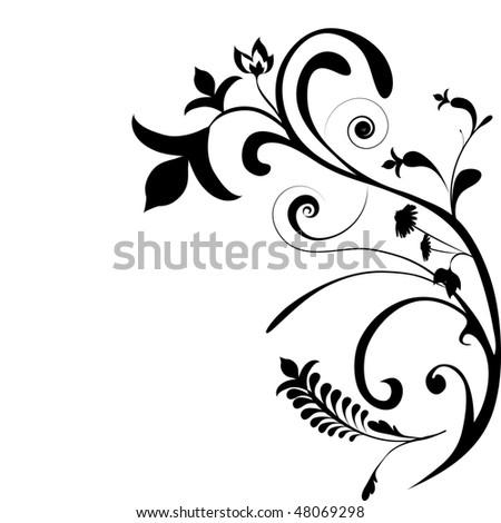 floral design element, ornament - stock photo