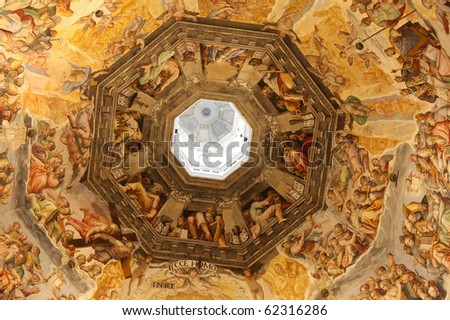 Florence cathedral, interior, Tuscany, Italy - stock photo