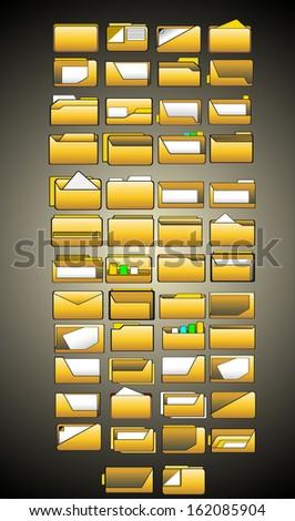 folder icons - stock photo