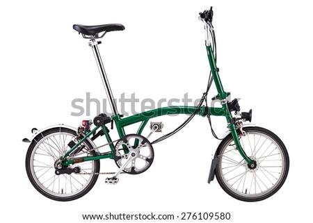 folding bicycle isolate  - stock photo