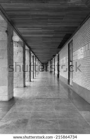 Footpath in the church - stock photo