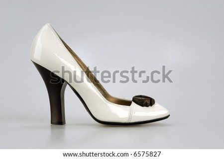 footwear isolated on a grey background