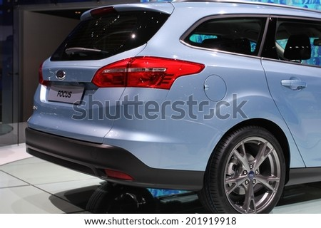 2015 Ford Focus Wagon presented  the 84th International Geneva Motor Show on March 4, 2014 in Palexpo, Geneva, Switzerland