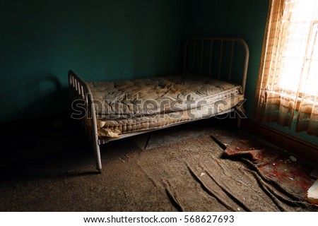 Dirty Bedroom Stock Images RoyaltyFree Images Vectors