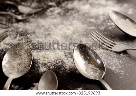 fork and spoon flour
