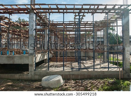 Foundation construction industry, homes and buildings.