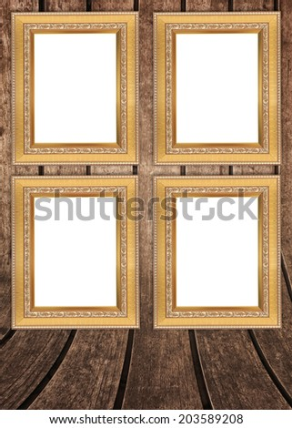 frame on the wooden wall.