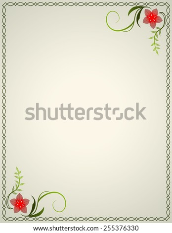 Frame with flowers. - stock photo