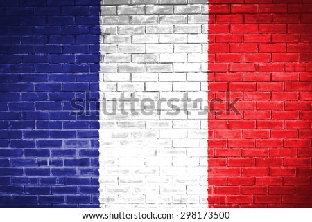 france flag,wall texture background