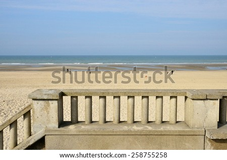 France, the picturesque city of Stella Plage in  Nord Pas de Calais  - stock photo