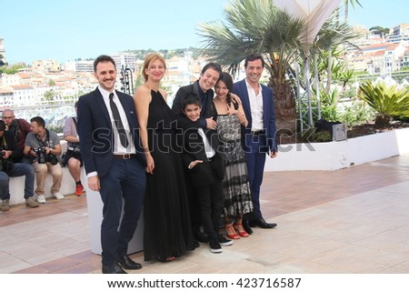 Francisco Marquez, Diego Velazquez, Andrea Testa attend the 'La Larga Noche De Francisco Sancti' photocall during the 69th  Cannes Film Festival at the Palais  on May 20, 2016 in Cannes, France.